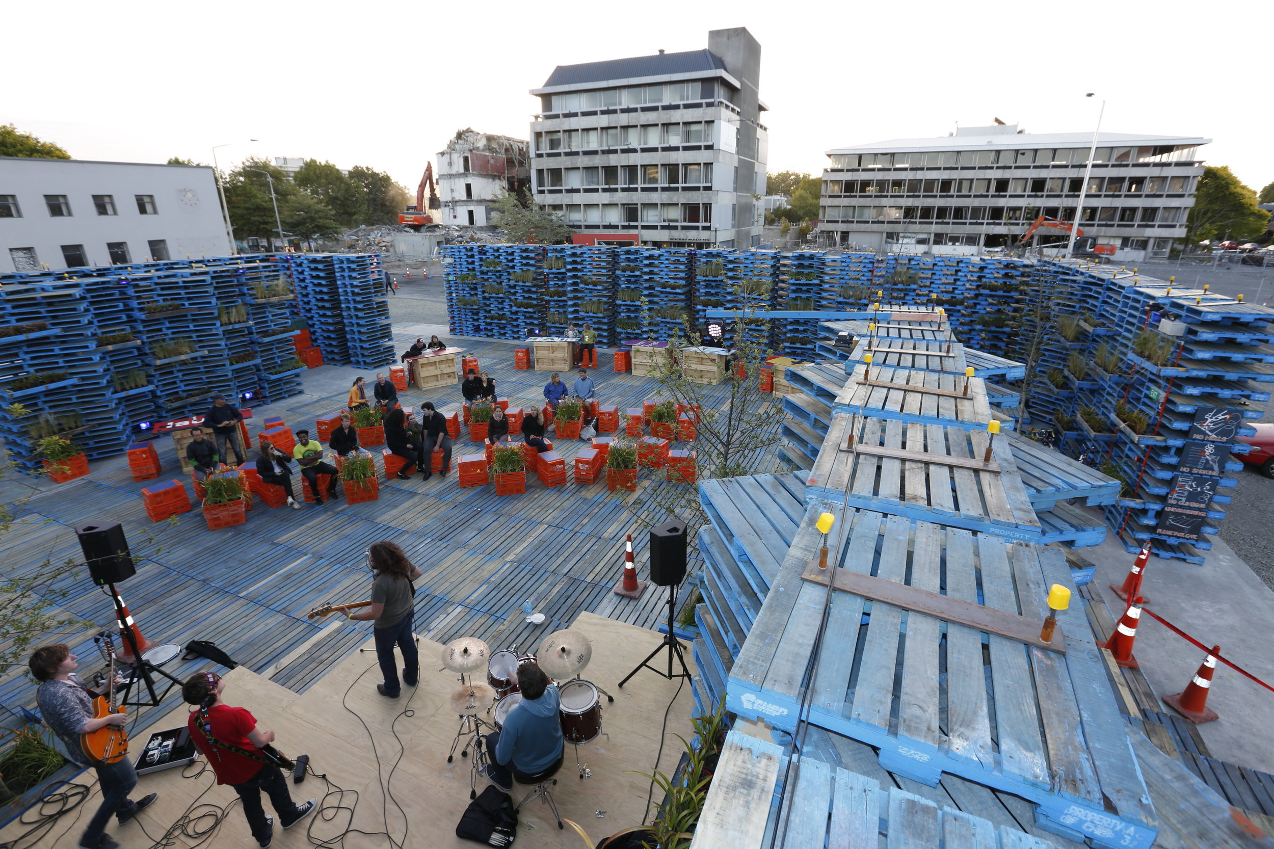 Gap Filler's The Pallet Pavilion, 2012-2014 (credit: Maja Moritz 2012)