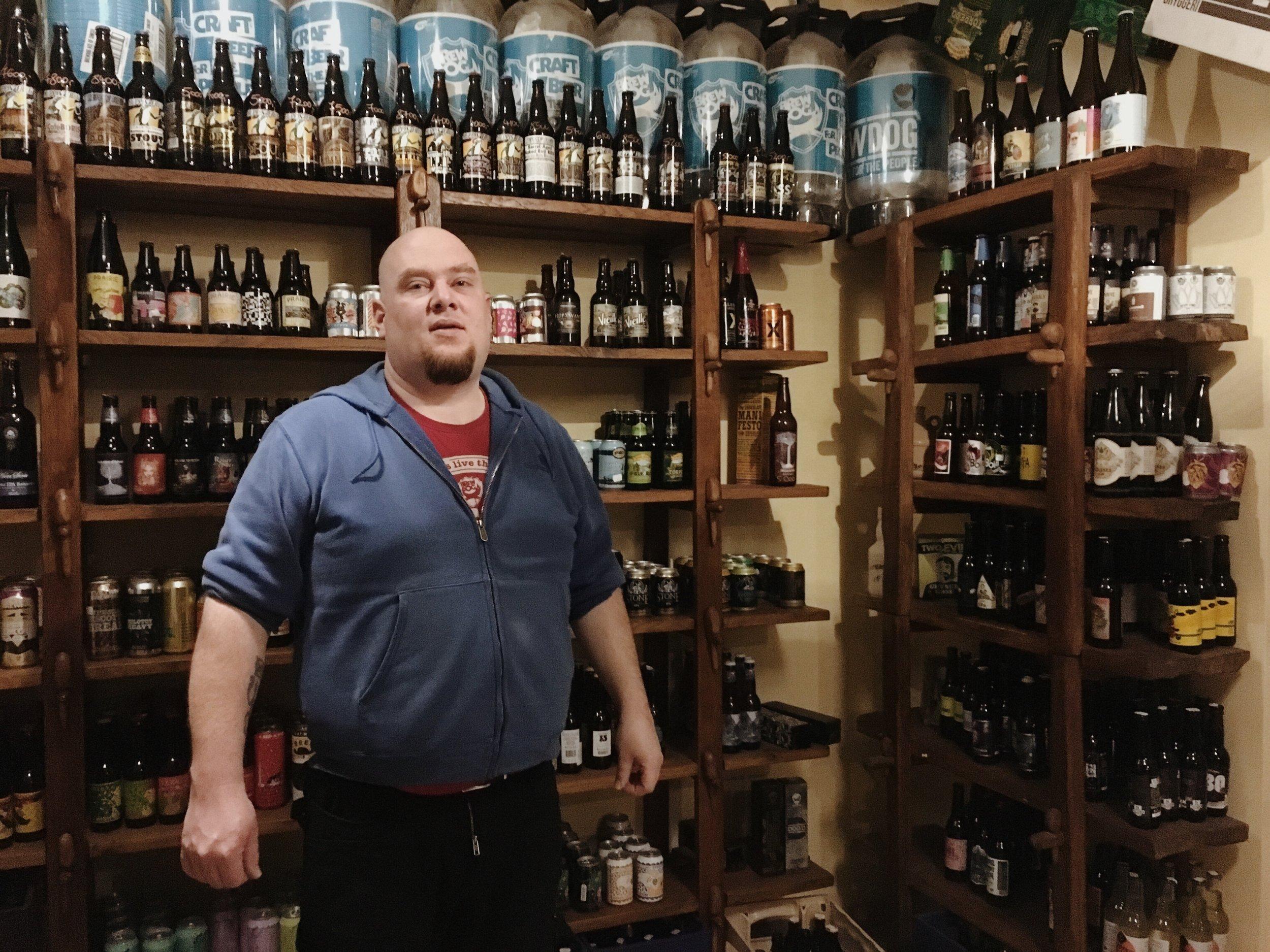 Gergely Kővári, owner of Hopaholic + Csak a Jo Sor