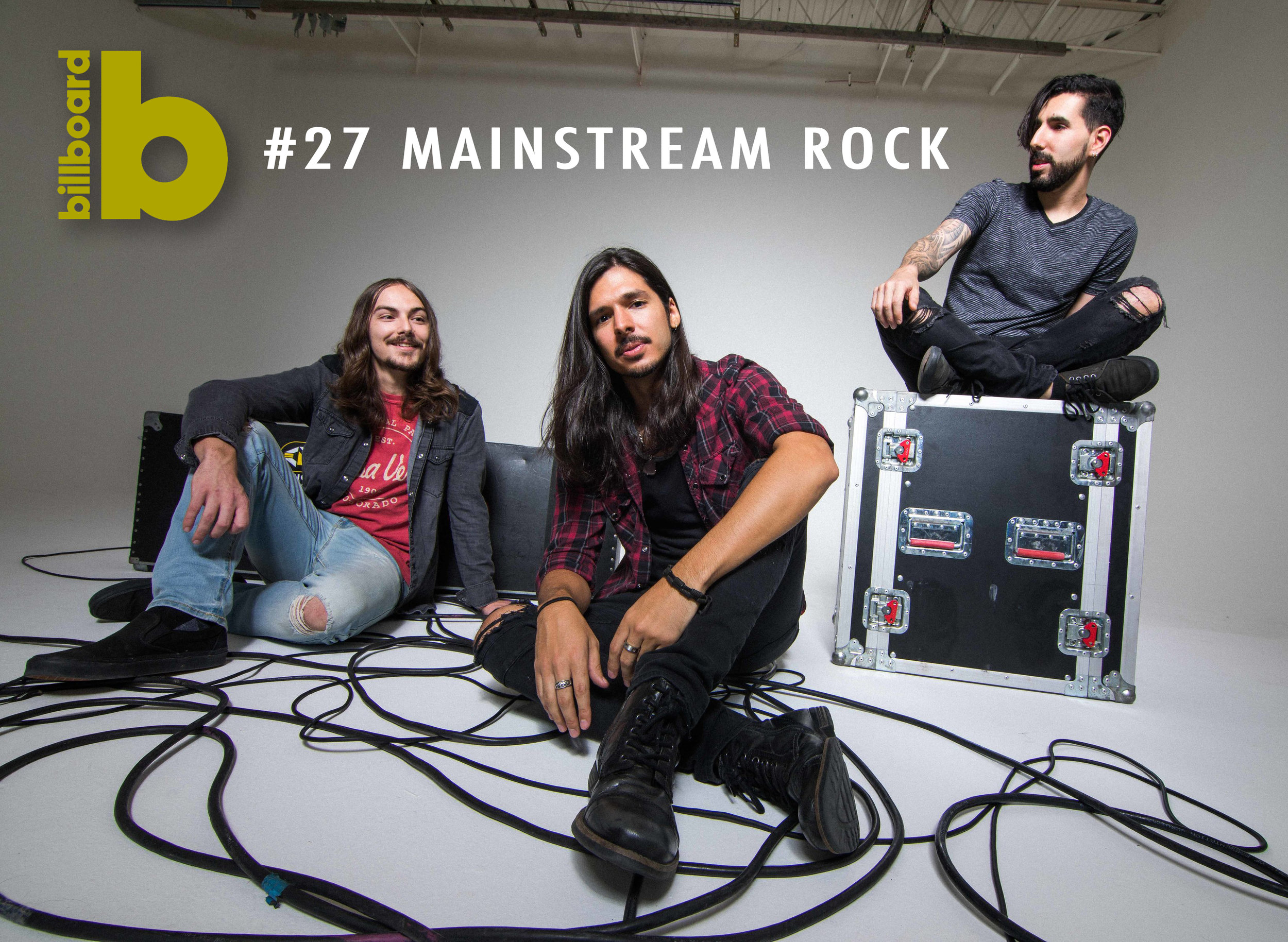 """My World"" hits #27 on Billboard Mainstream Rock Charts - March 6th, 2019"