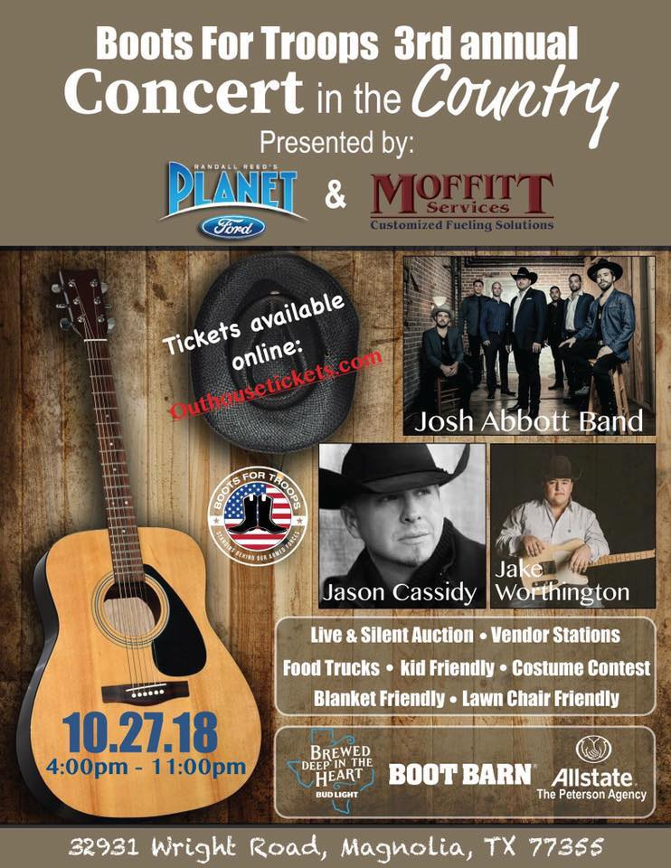 Boots For Troops Concert in the Country