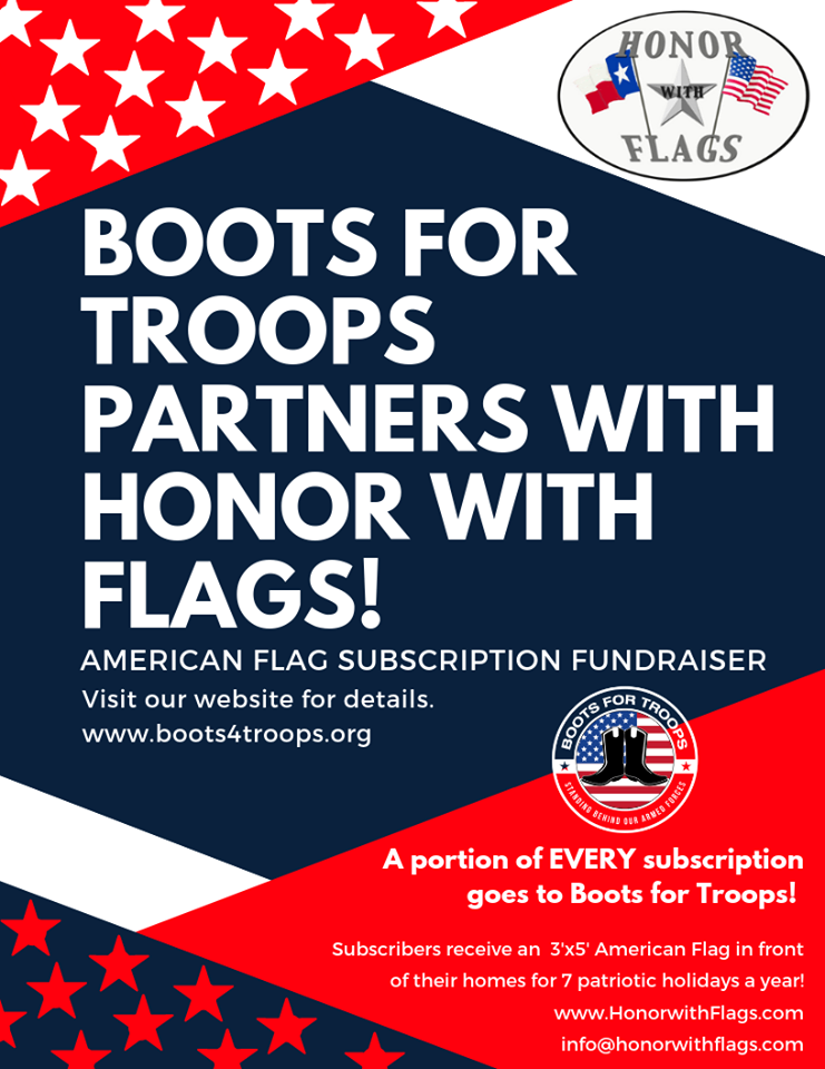 Boots for Troops Partners with Honor with Flags