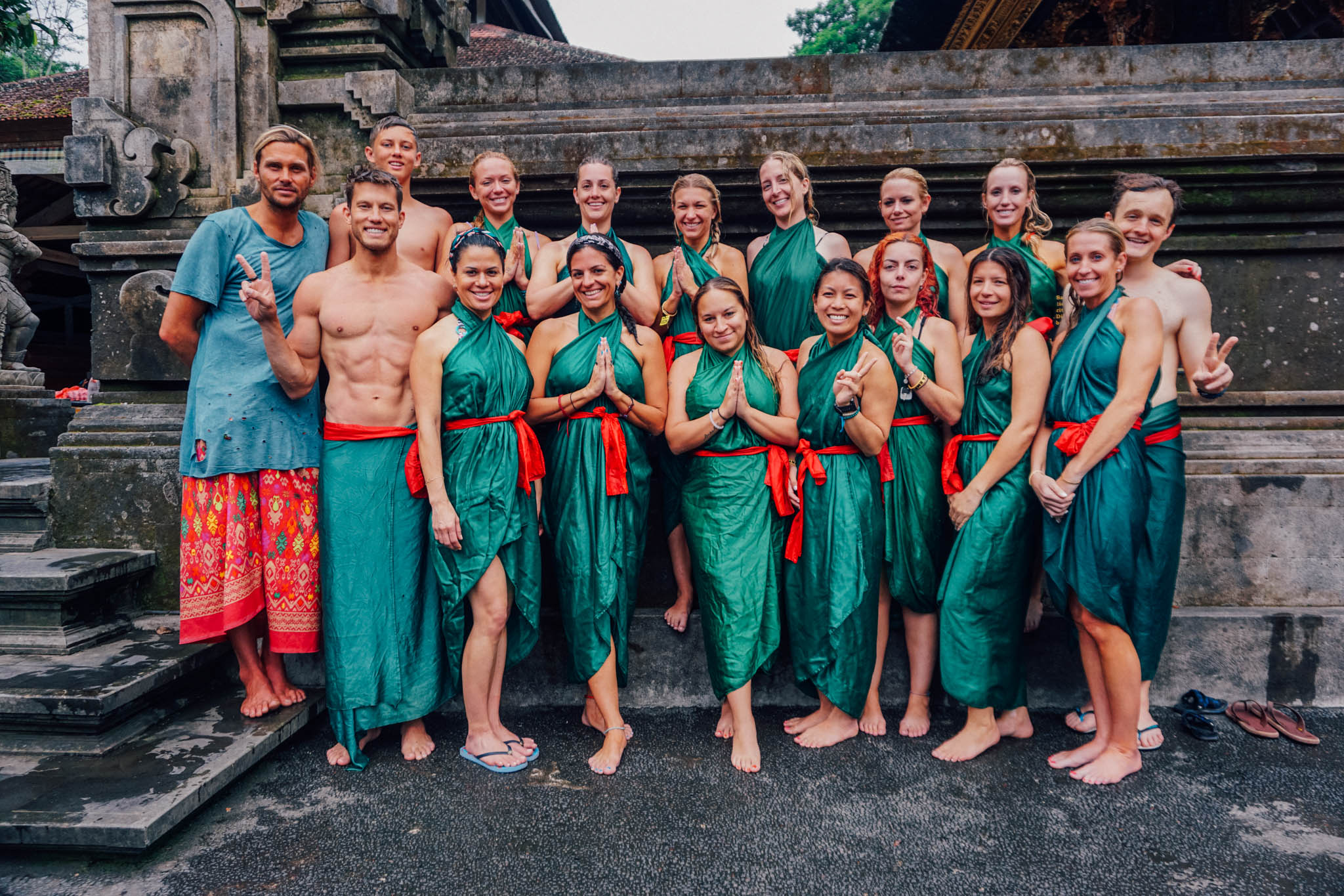 Group photo at The Tirta Empul Holy Water Temple