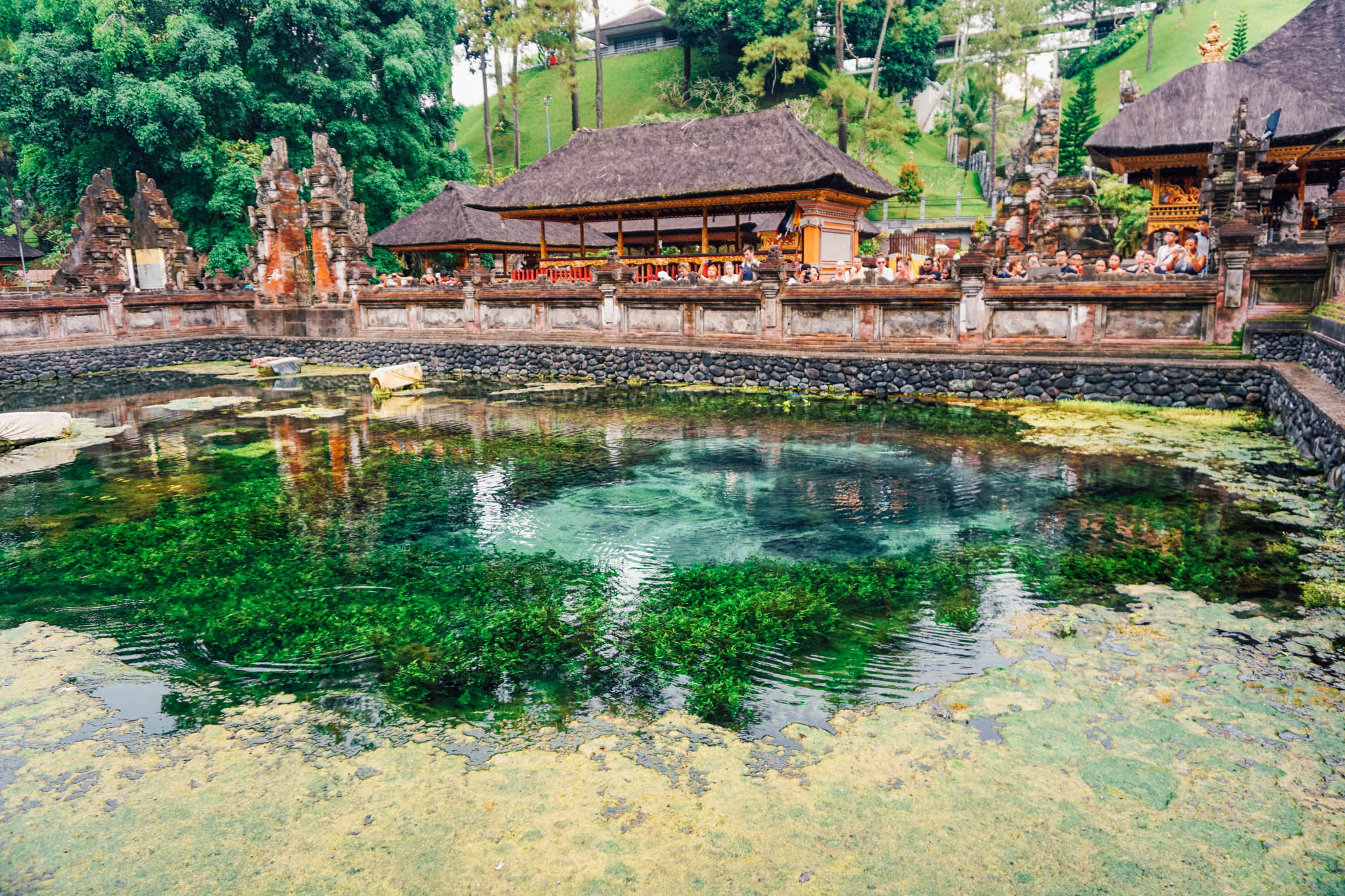 Water Spring at The Tirta Empul Holy Water Temple