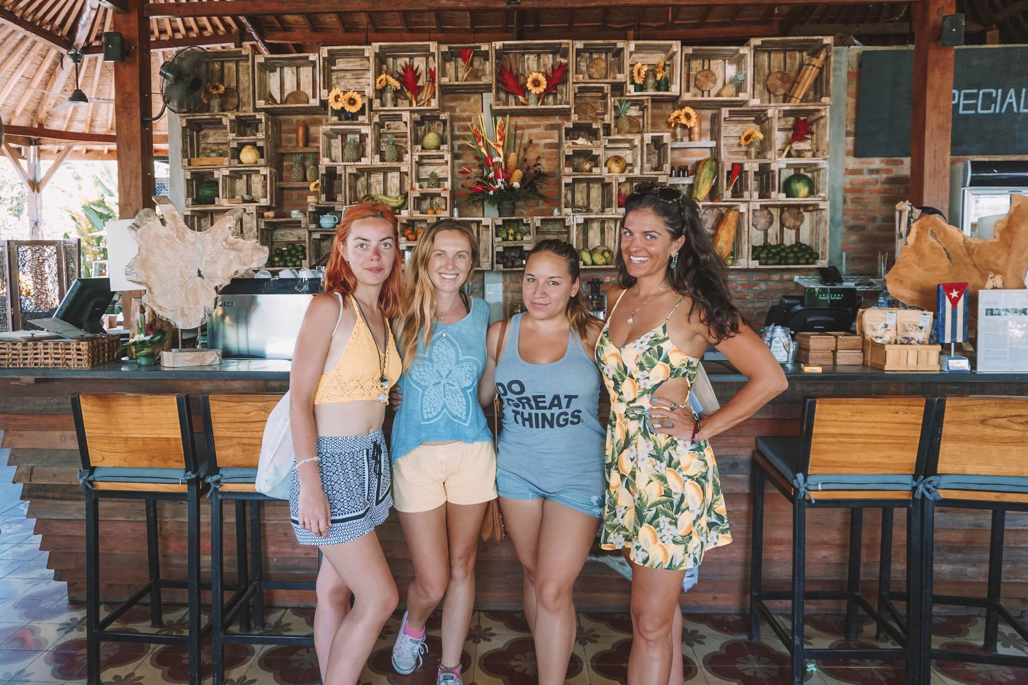 Making friends in Canggu, Bali