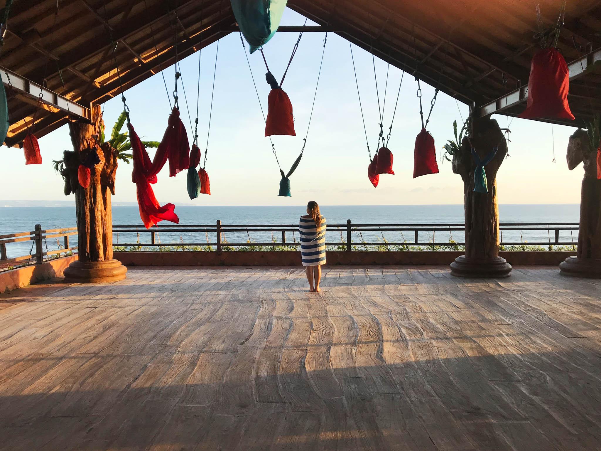 Loving this view. Udara Bali Aerial Yoga Deck