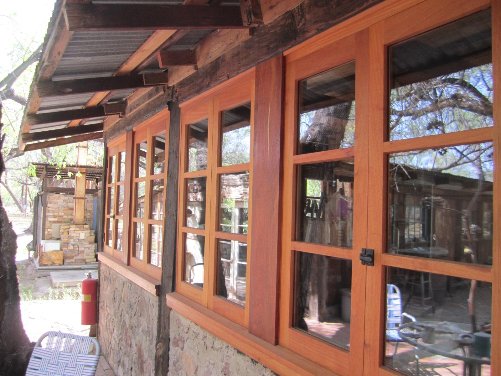 Spanish cedar windows