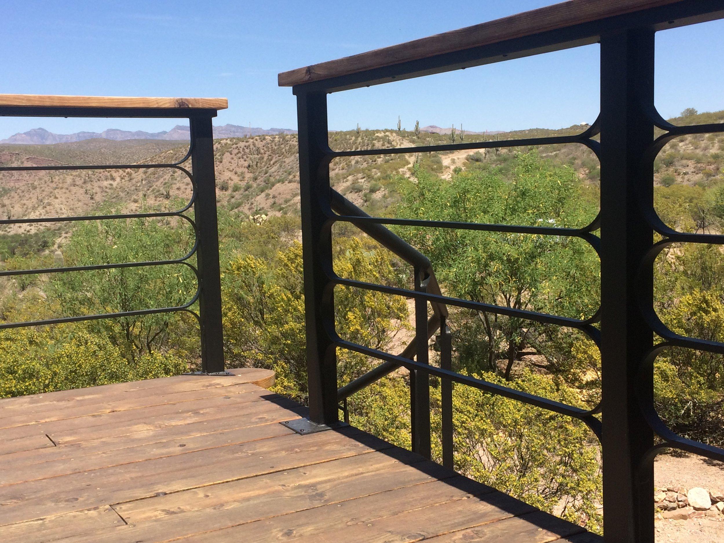 balcony railing, Loveland house