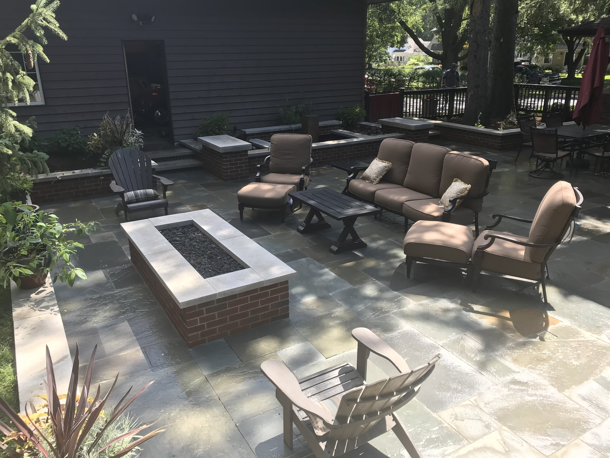 Bluestone Patio with Fire Pit