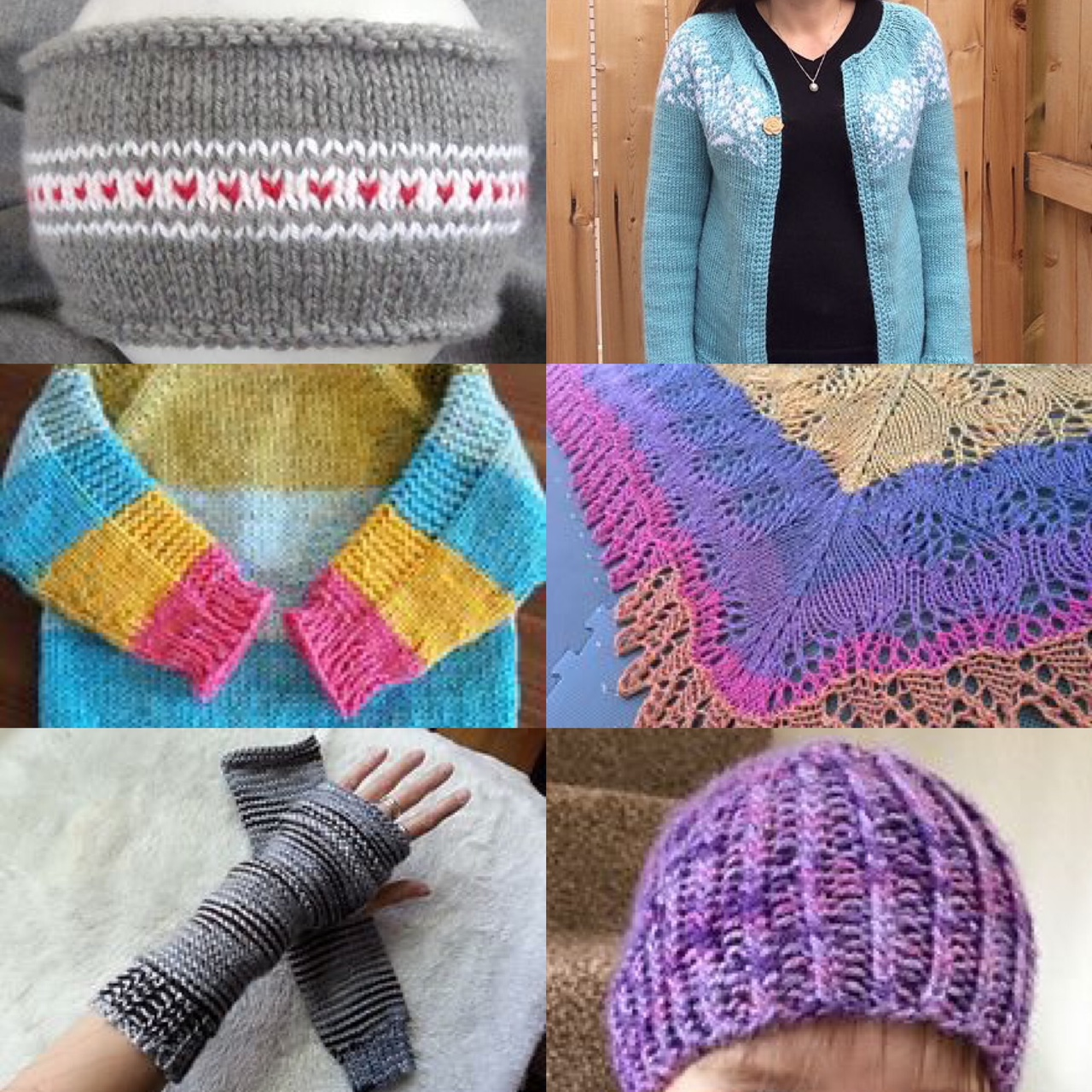 SOURCES:  Headband ,  Adult Sweater ,  Childs Sweater ,  Shawl ,  Hand warmers ,  Hat
