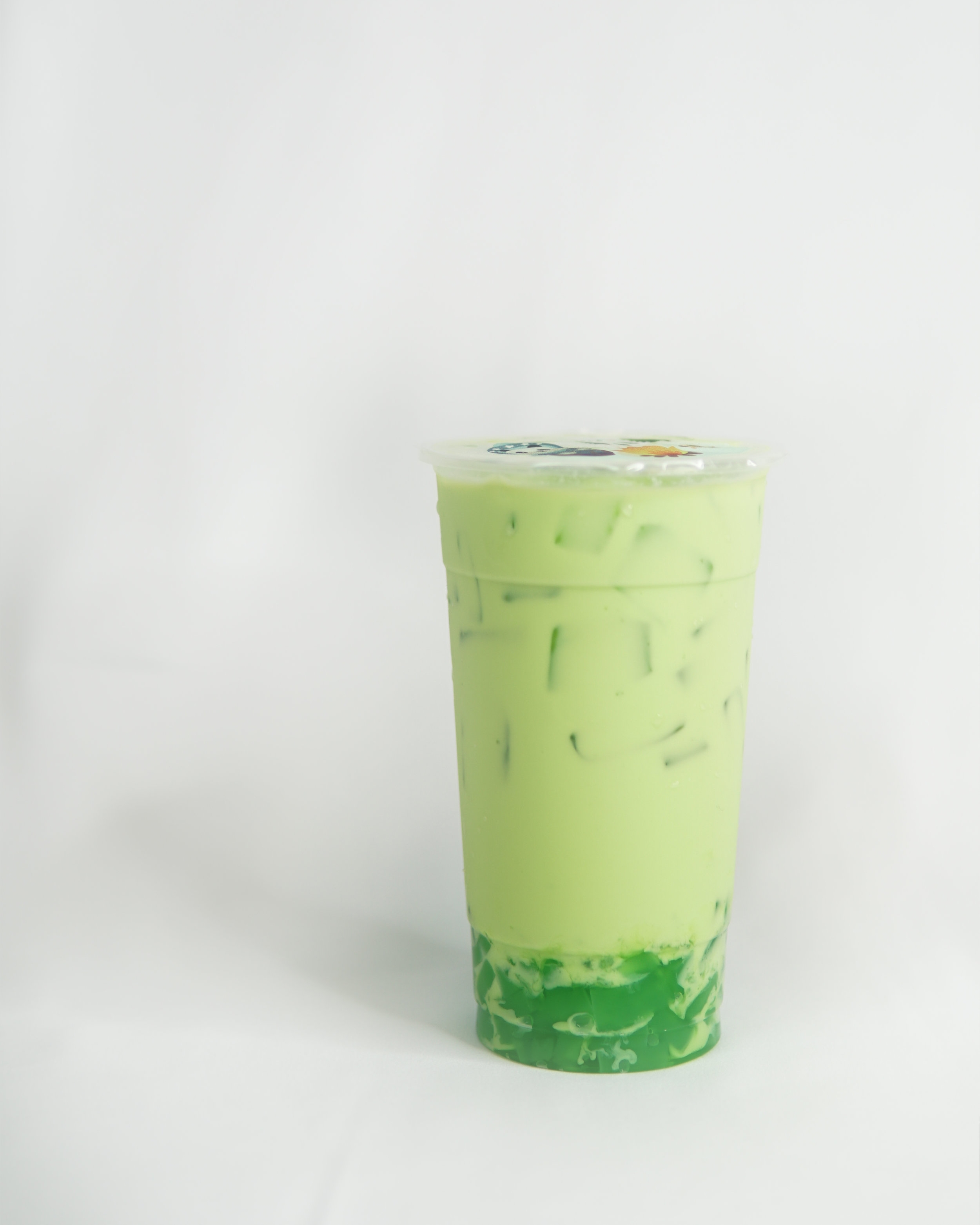 Honeydew Milk Tea w/Green Apple Jelly