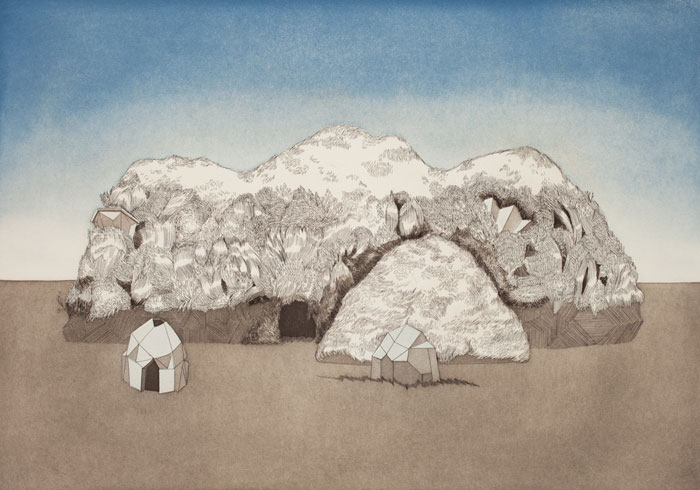 The Brothers ,2011, etching, 20x14 inches, ed. 4/10, unframed (framing options available)