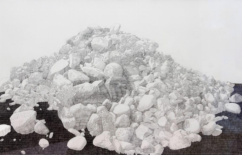 Joseph Mine, Ojo Caliente , 2014, graphite and dirt on paper, 30x22 inches SOLD
