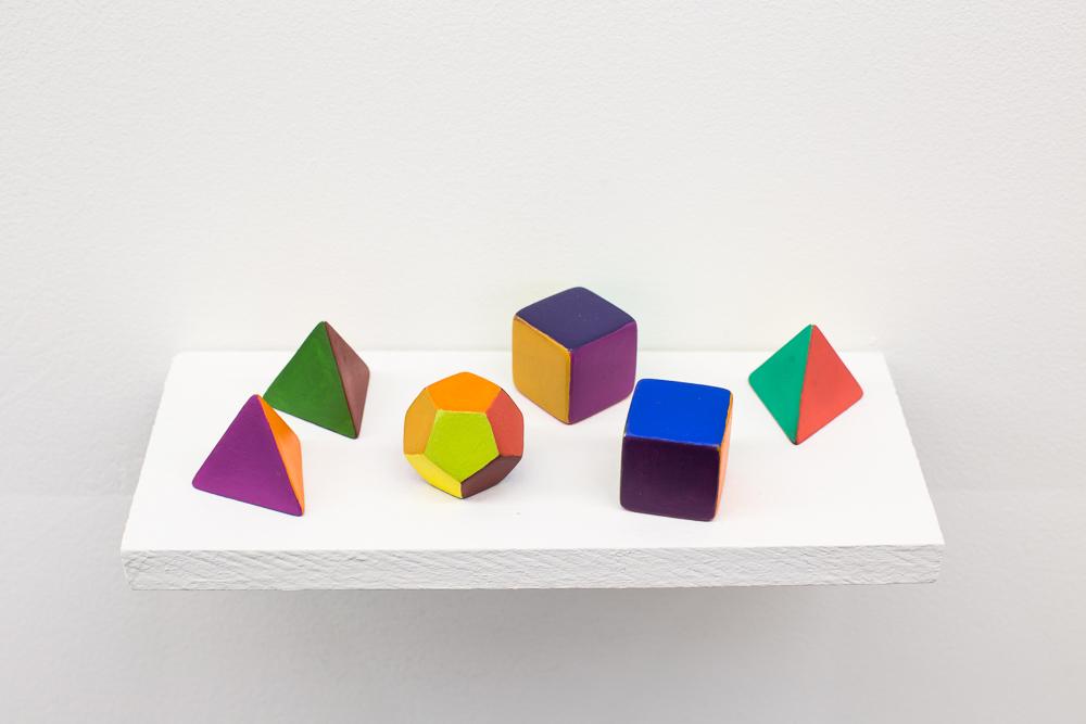 Aleators , 2017, dimensions variable, acrylic on resin