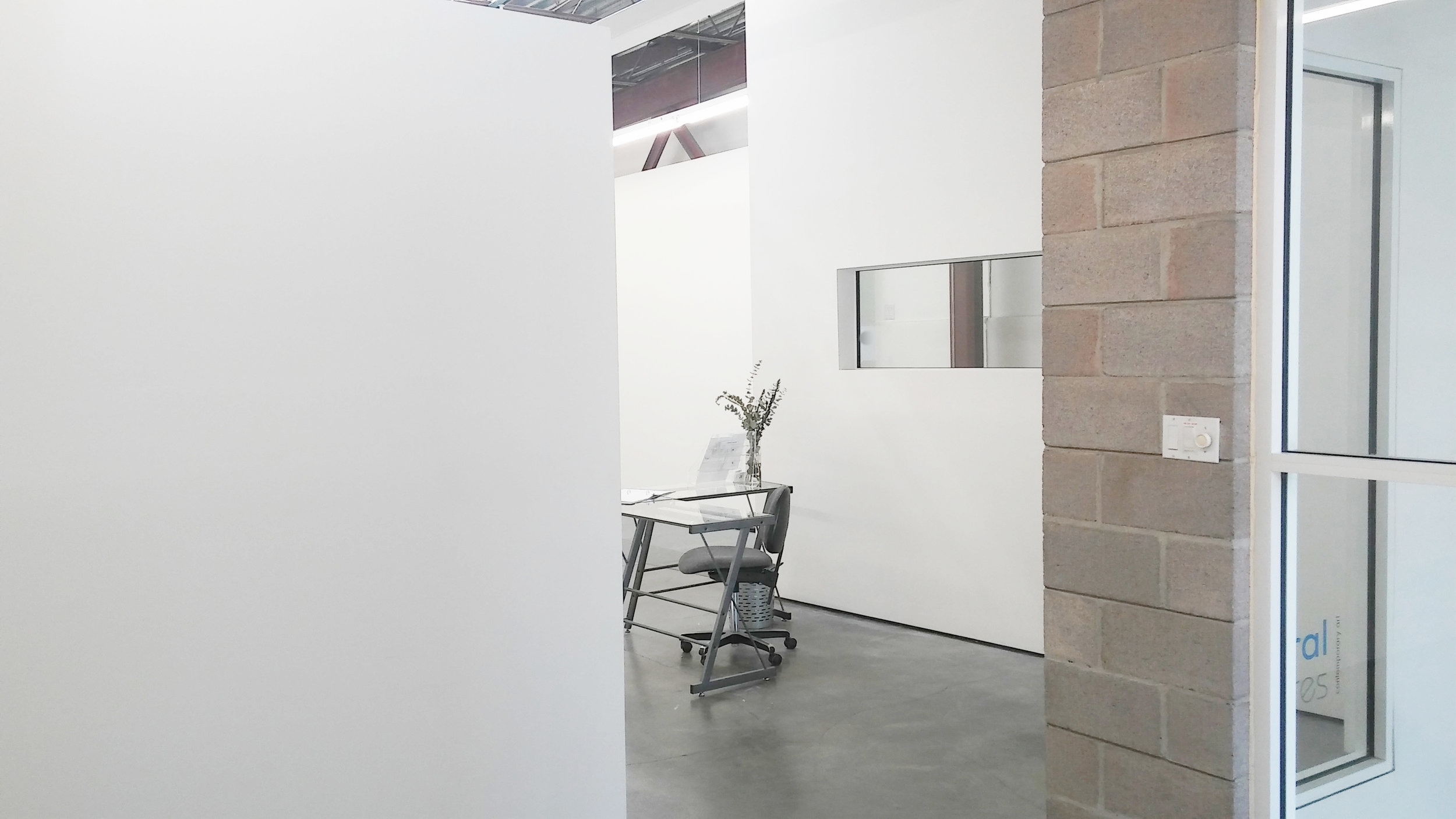 looking out toward gallery entrance