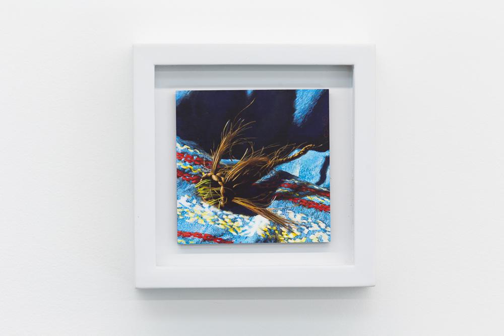 Nest VI , 2016, acrylic on panel, 4x4 inches