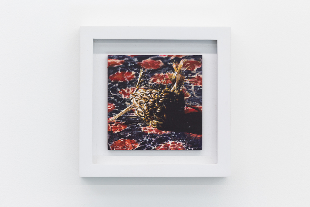 Nest V , 2016, acrylic on panel, 4x4 inches