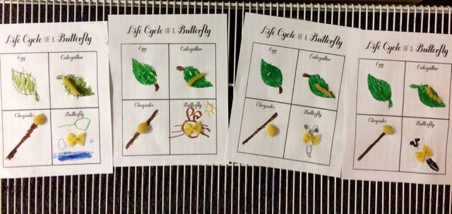 Examples from a kindergarten class I teach.