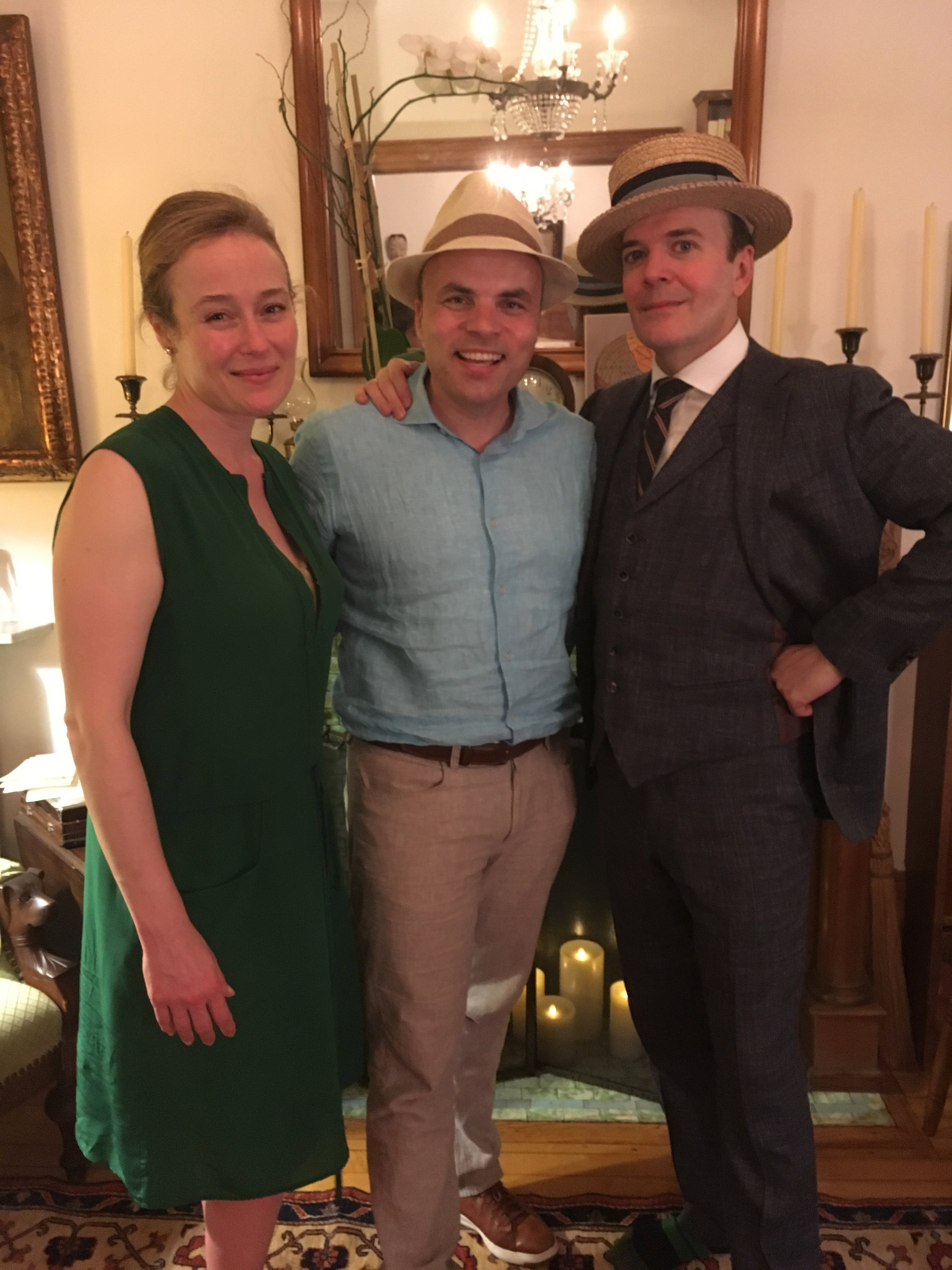 JT with Jennifer Ehle and Jefferson Mays