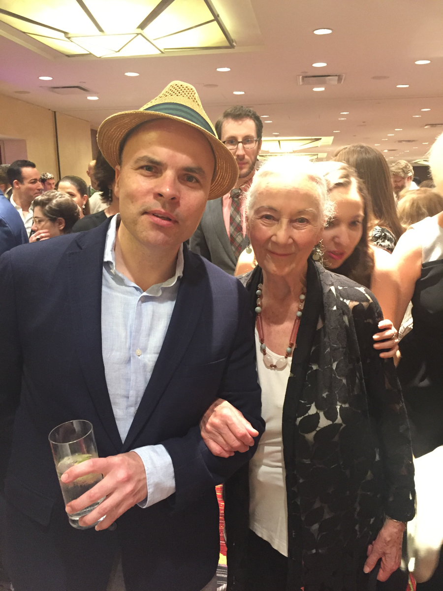 JT with Rosemary Harris