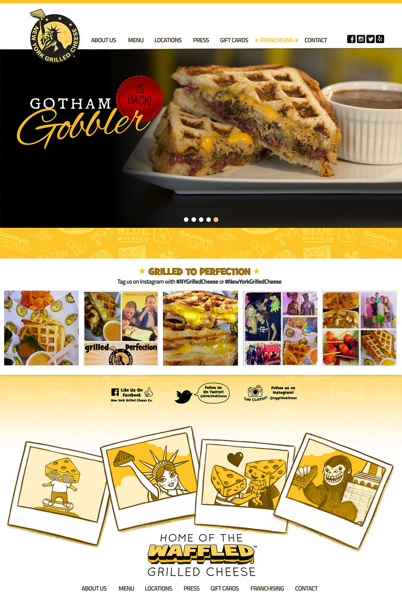 New York Grilled Cheese® Website UI
