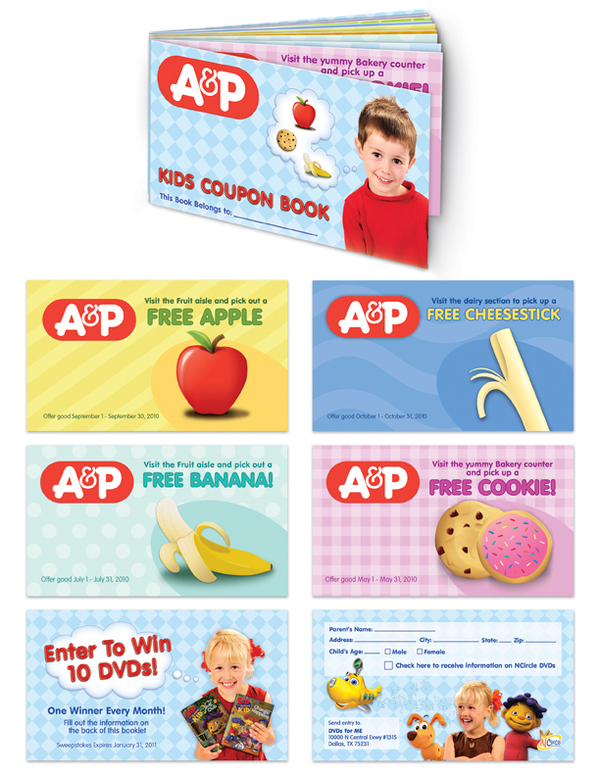 A&P and NCircle Kids Coupon Book