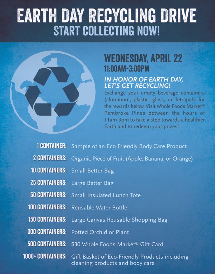 Earth Day Recycling Drive Poster