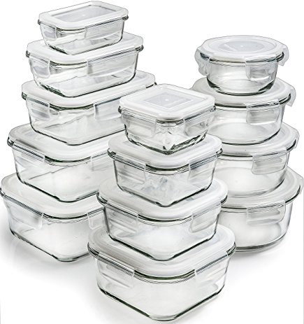 26 piece glass storage containers    VIEW