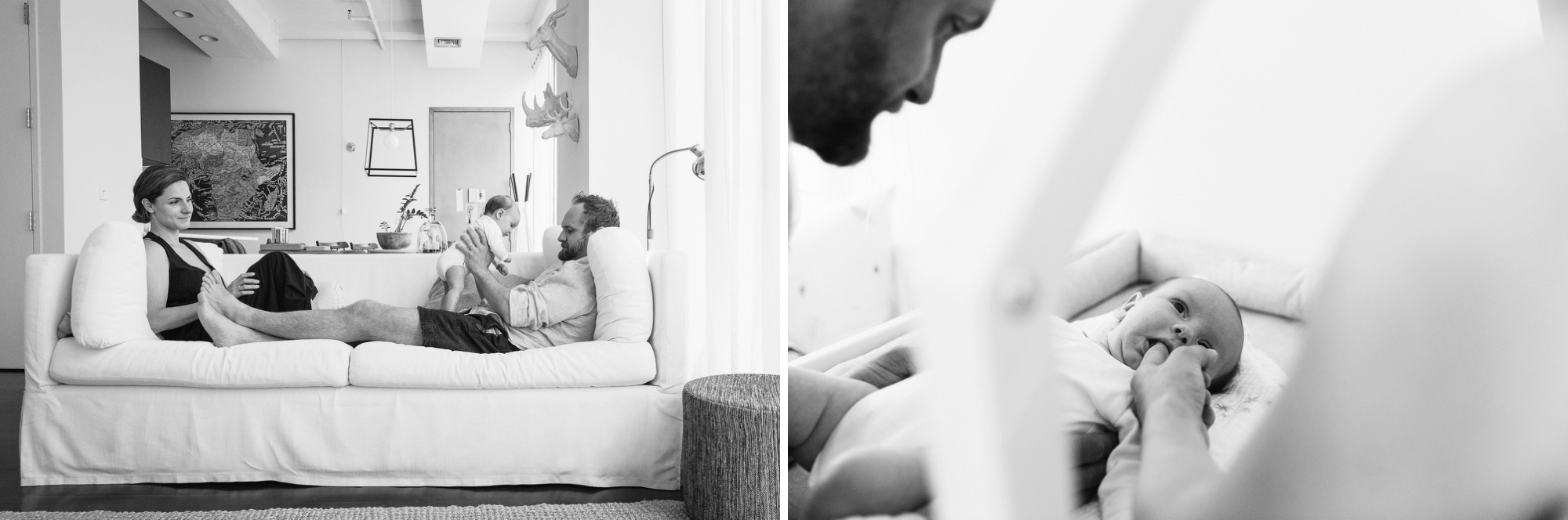 Newborn and Father in their Brooklyn home