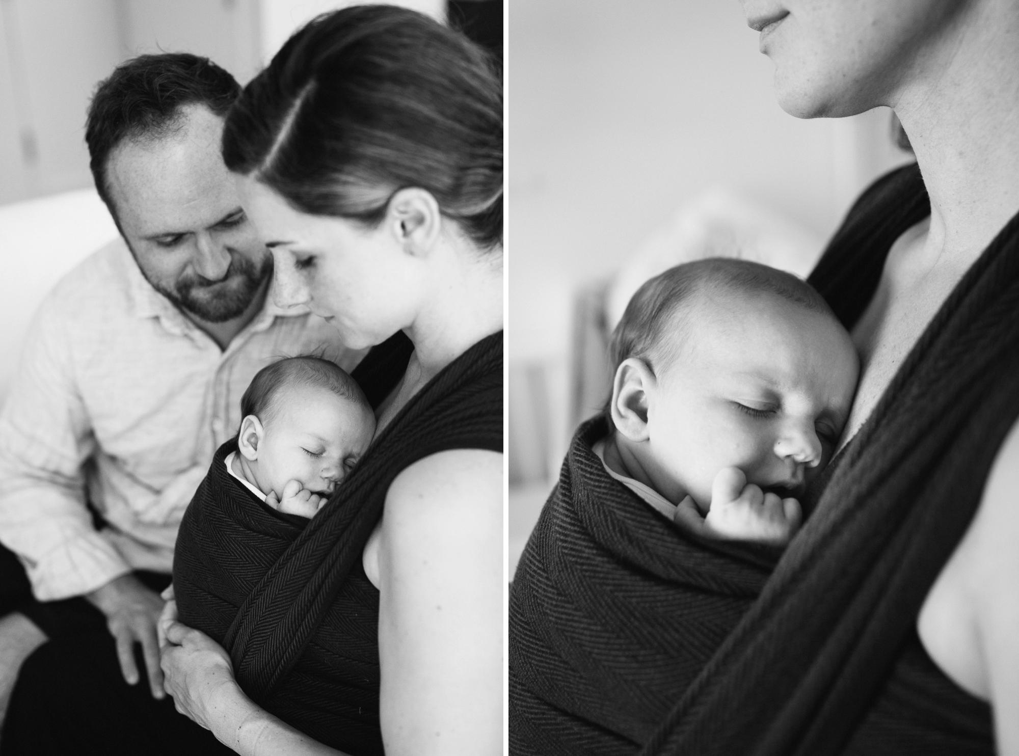 Brooklyn Mom holding newborn