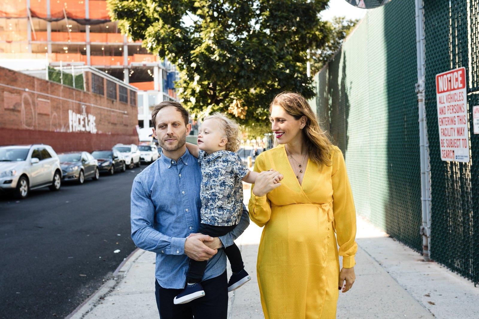 family portraits in Domino Park Williamsburg Brooklyn NY