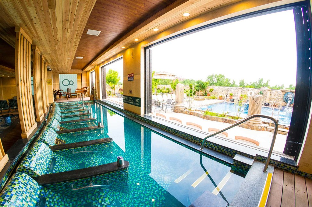Experience the blissfulness of hydrotherapy in their four season grand spa pools, each jet targets different pressure points throughout the body, increasing circulation and digestion, while soothing any muscle aches, strengthening the immune system and even facilitating weight loss.