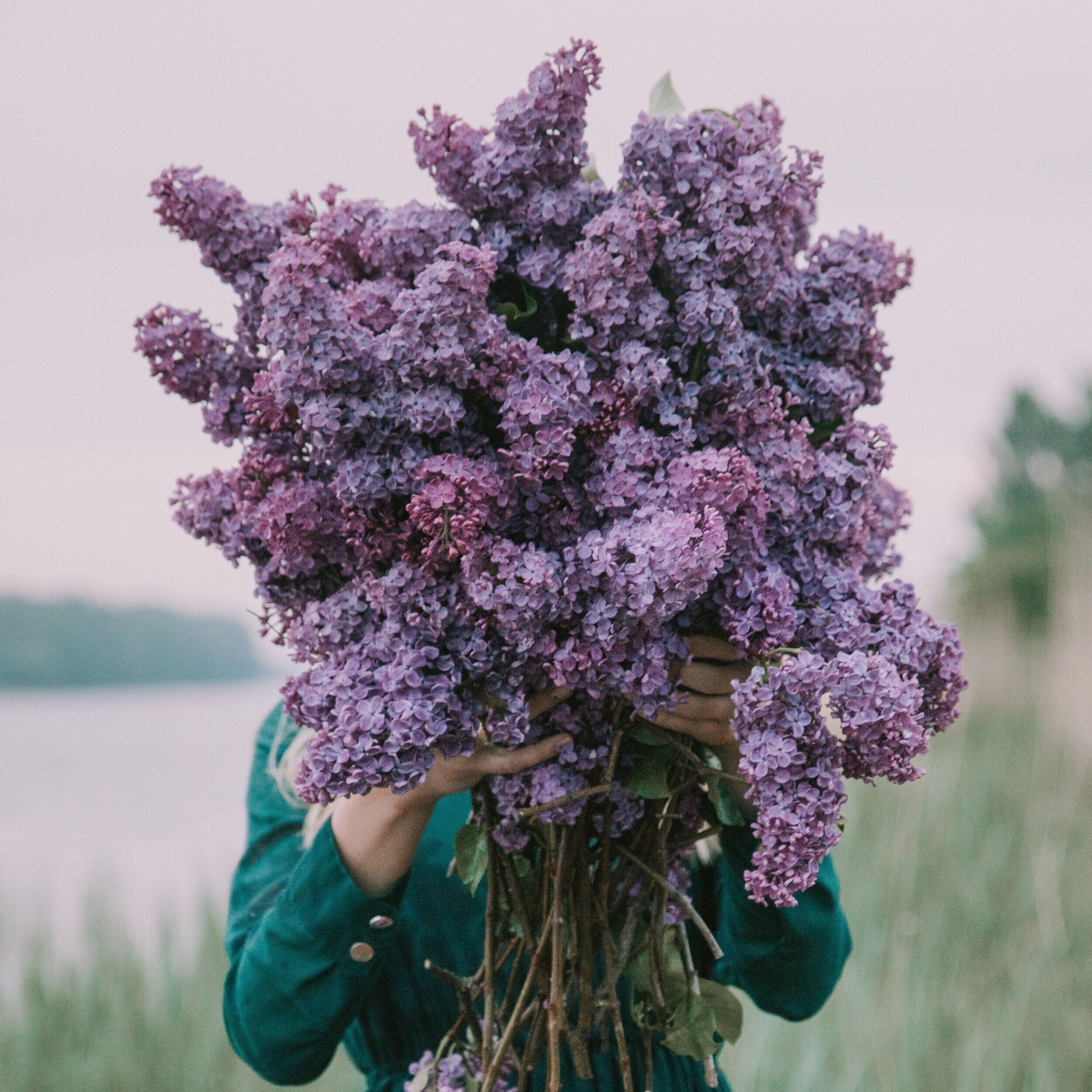 lilac woman