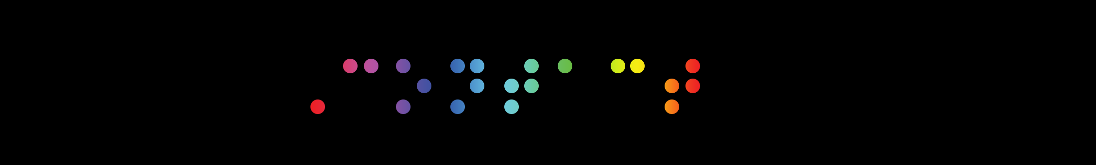 Contact (picture using rainbow colour Braille)