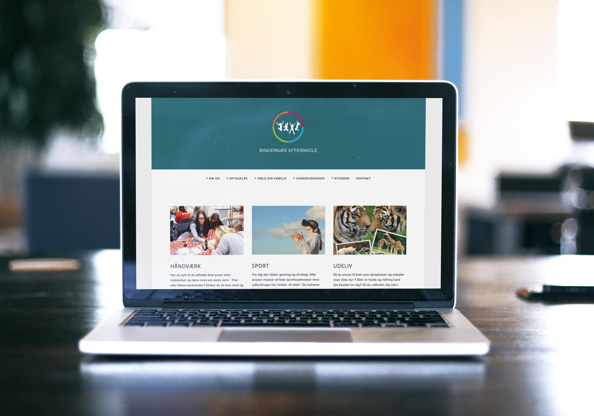 Website til Bindernæs Efterskole