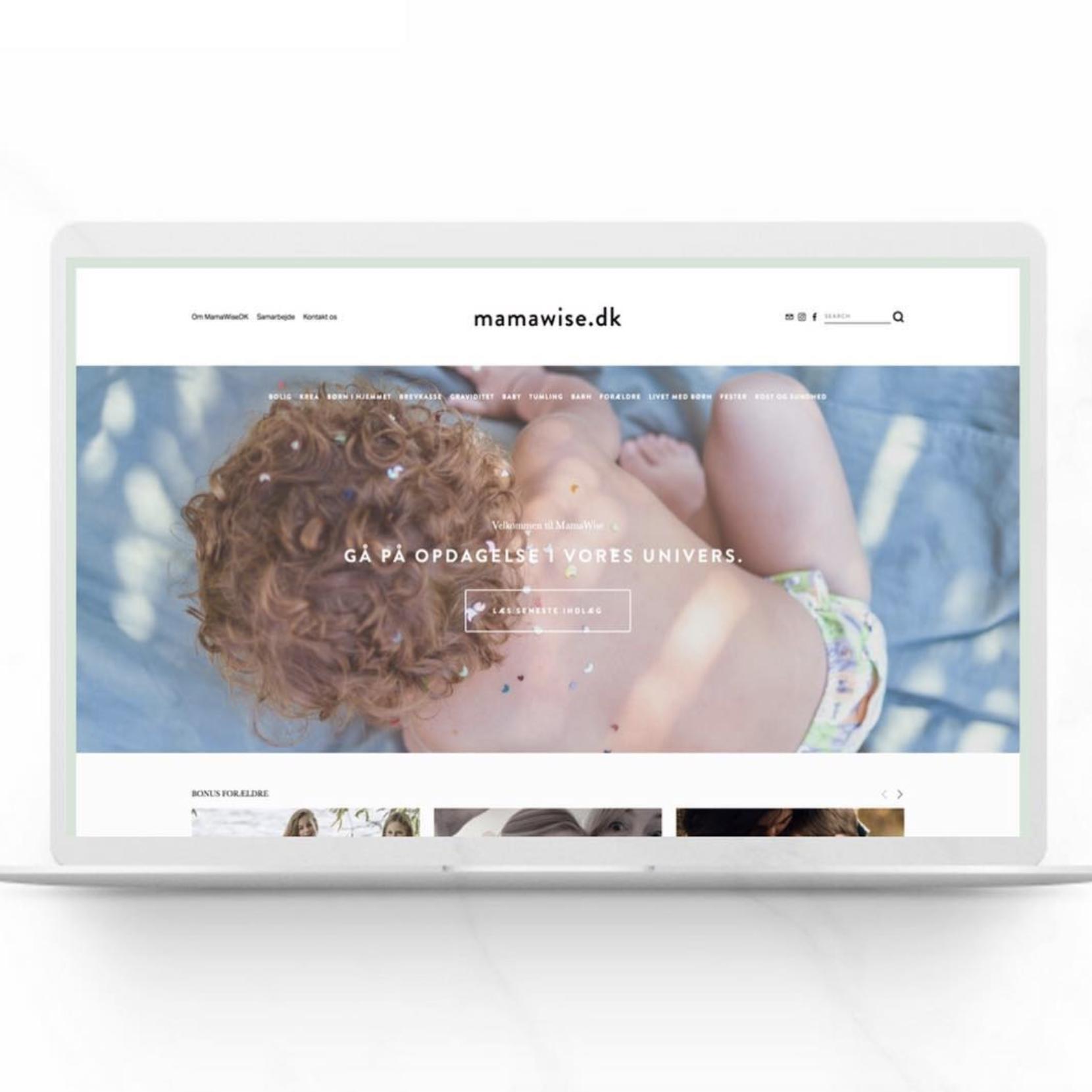 www.mamawise.dk  - Bygget og designet af Amanda Winther Due under vores 6 ugers online forløb.