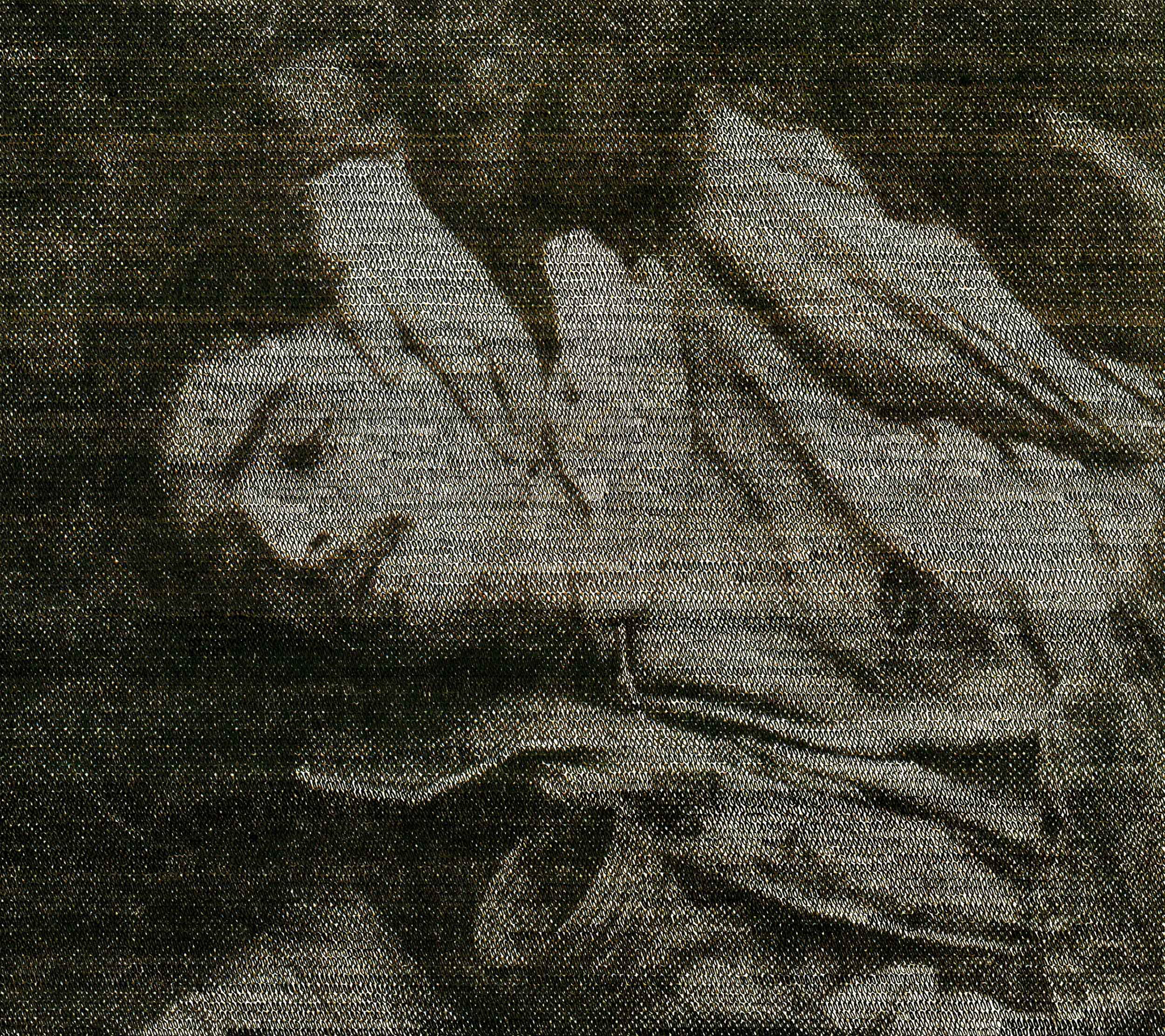 Comfort Him  (from the series Wavering Screens), inkjet print on paper from original paper collage, variable size, 2012