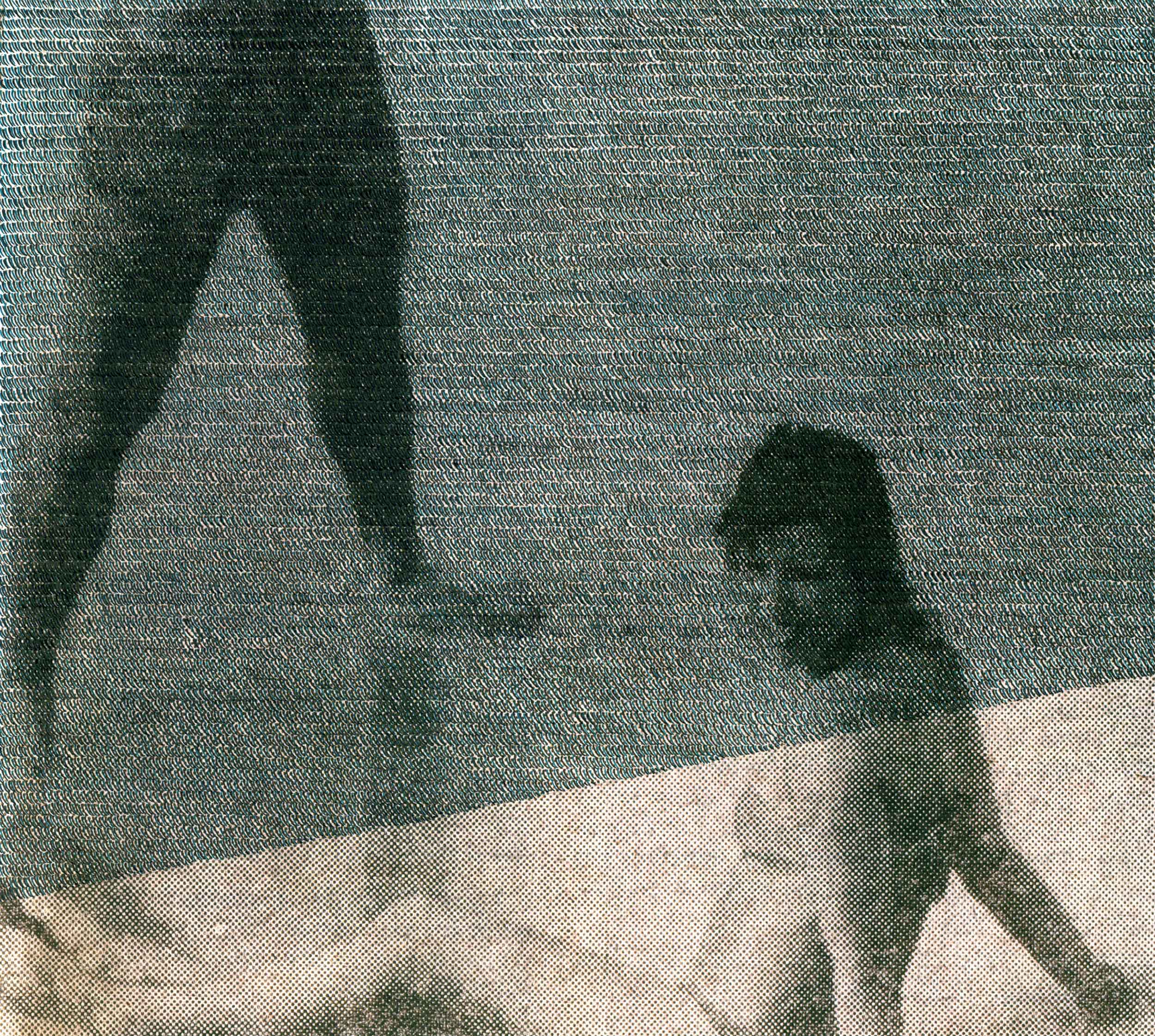 Green Tide Lovers  (from the series Wavering Screens), inkjet print on paper from original paper collage, variable size, 2012