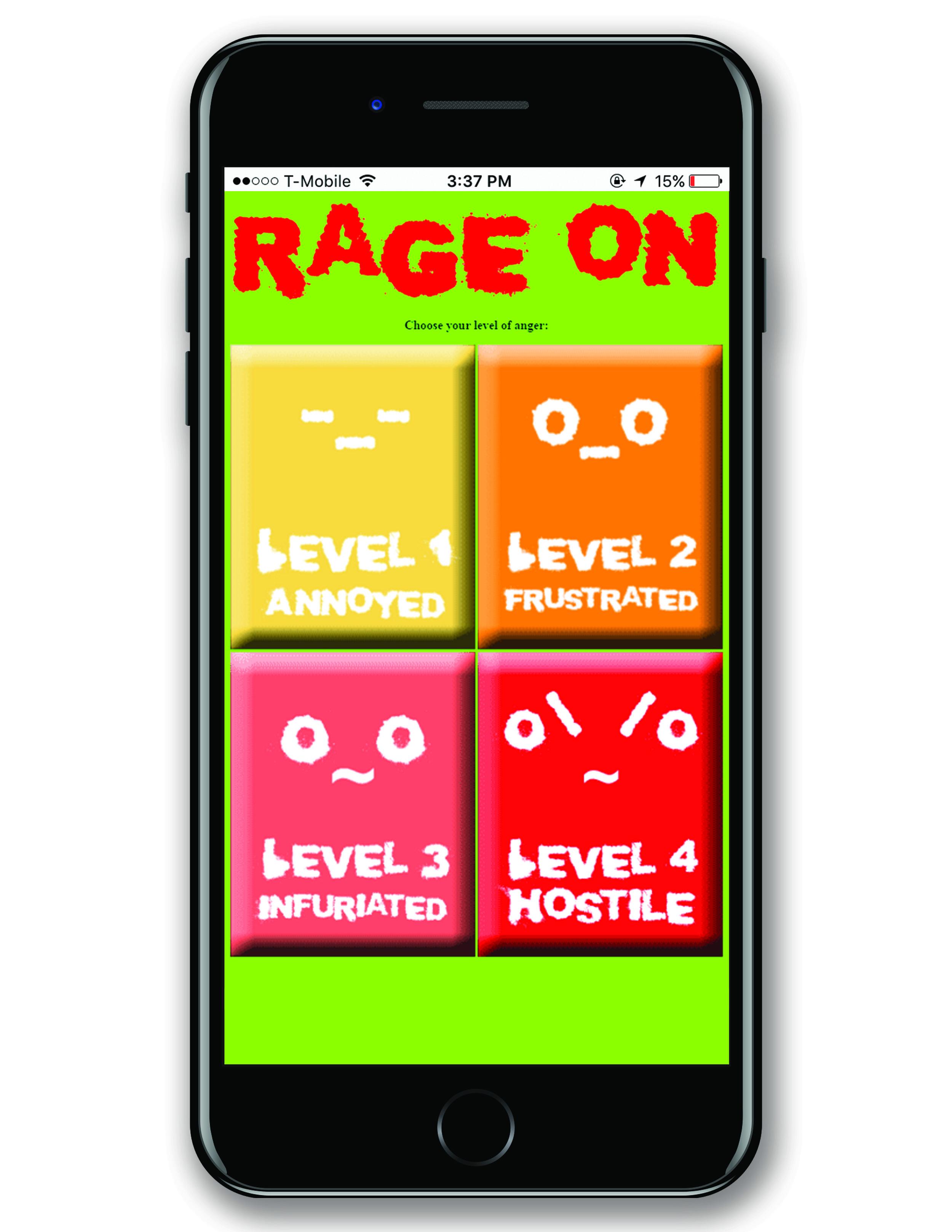 rage on anger level