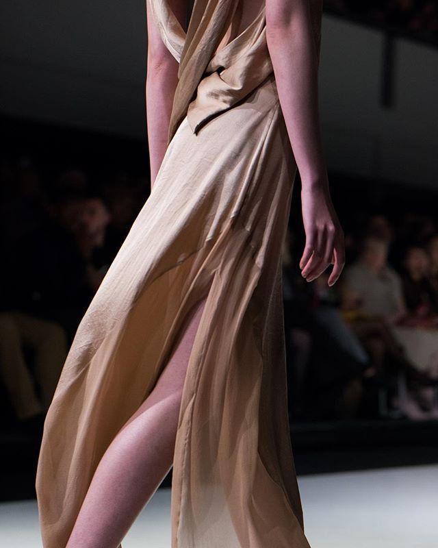 Sweeping drape details . . . . #vancouverfashionweek #fashion #vancouver #drape #fashiondesign #silk #blossom