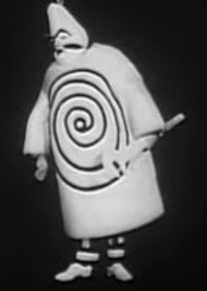 from Kung Ubu, directed by Michael Meschke at the Marionetteater, Stockholm, 1964. Costumes and puppets designed by Franciszka Themerson.