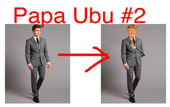My Papa Ubu costume #2 complete with the Trump change.