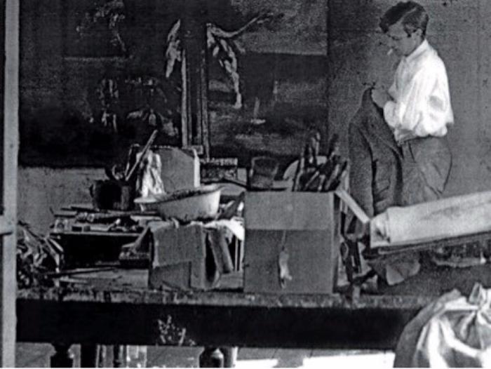 Cunningham in his Chelsea studio.