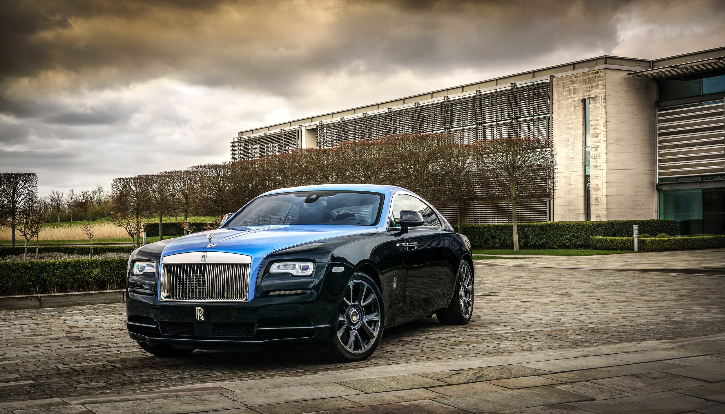 The very special one-off Rolls-Royce Wraith at its home in Goodwood.