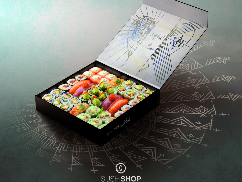 Inside the limited edition Sushi Shop x Scott Campbell designed box