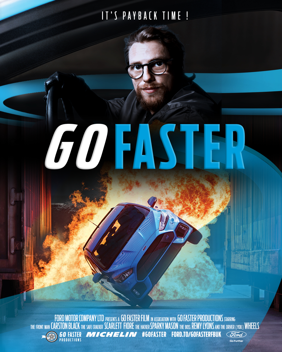 The London Journalist's Richi Leonard at the 'Go Faster' Ford Motor Company experience