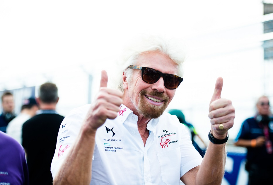 Sir Richard Branson will attend the Paris race as well as be a panellist for the teams Innovation Summit on climate change.jpg