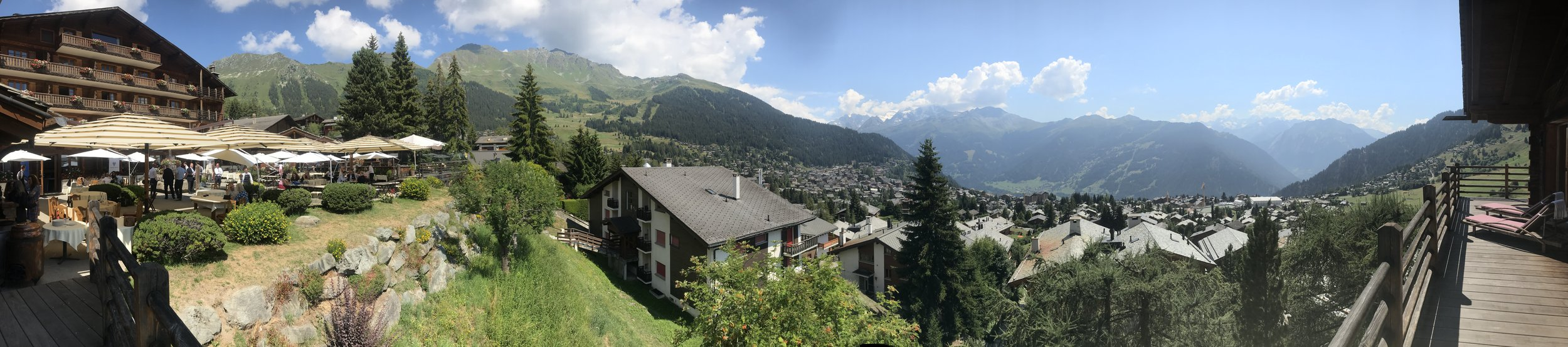 The Chalet d'Adrien, Verbier, during the Tsinandali Summit