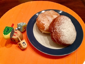Don't forget our holiday specials: latkes and sufganiyot!