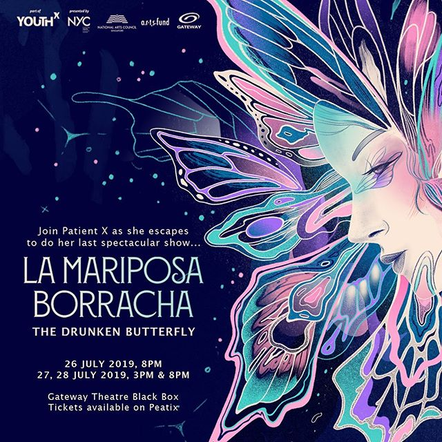 Today we turn 2! And to commemorate this special day we're launching ticket sales for our new show - 'La Mariposa Borracha' (The Drunken Butterfly)  Join Patient X as she escapes from the hospital to do her one last spectacular show with her troupe. Expect a rollercoaster ride of emotions as X attempts to complete her mission encountering unexpected surprises, multiple failures, ridiculous dancing and one giant party!  This is a playful performance conceived by Shanice Stanislaus, directed by Alvin Chiam.  We would love for you to come and see the show, get your tickets on the link in bio!