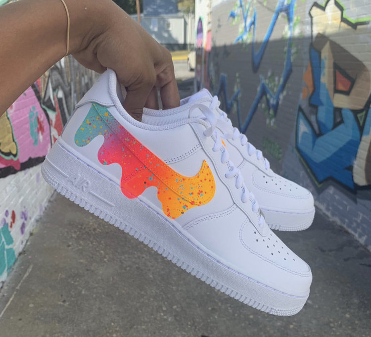 paint splatter air force 1 custom drip